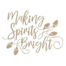 Spellbinders Glimmer Hot Foil Plate Making Spirits Bright