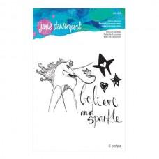 Jane Davenport by Spellbinders, Stamp - Unicorn Sparkle
