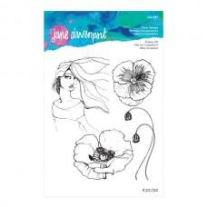 Jane Davenport by Spellbinders, Stamp - Poppy Girl