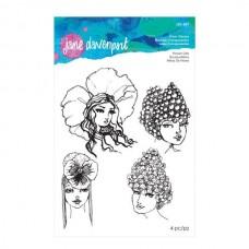 Jane Davenport by Spellbinders, Stamp - Flower Girls