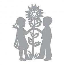Spellbinders Die D-Lites - Love & Flowers Etched Dies