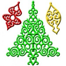 2012 Holiday Tree Spellbinder Die Set