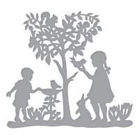 Spellbinders Shapeabilities - Peaceful Garden Etched Dies