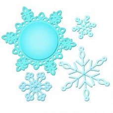 2012 Snowflake Pendant Spellbinder Die Set