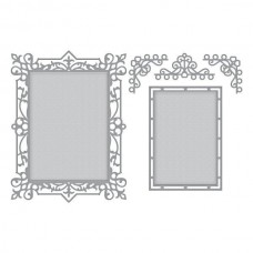 Spellbinders Die Callista Rectangle Shadowbox Frame