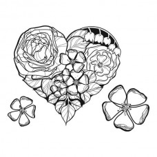 Spellbinders Cling Rubber Stamps Floral Love