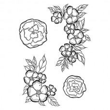 Spellbinders Cling Rubber Stamps Little Flowers