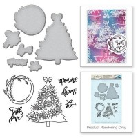 Spellbinders Stamp & Die Template Set Tree