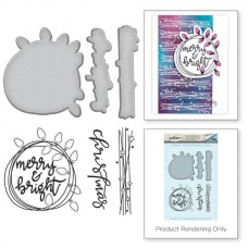 Spellbinders Stamp & Die Template Set Christmas Lights