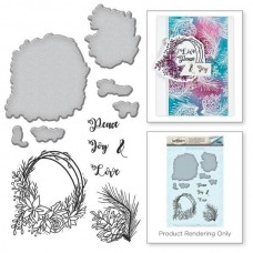 Spellbinders Stamp & Die Template Set Wreath