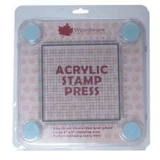 Woodware Acrylic Stamp Press 12cm x 12cm Grid