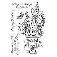 Woodware Clear Singles Millefiori Vase