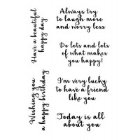 Woodware Clear Singles Happy Thoughts
