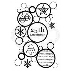 Woodware Clear Singles - Christmas Bubbles