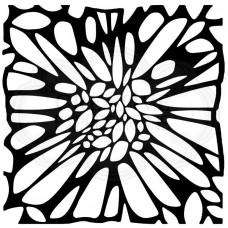 """Woodware 6"""" x 6"""" Stencil - Flower Centre"""