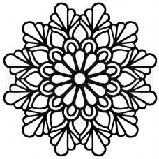 "Woodware 6.8"" x 6.8"" Stencil - Teardrop Mandala"