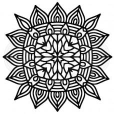 """Woodware 6.8"""" x 6.8"""" Stencil - Aztec Mandala"""