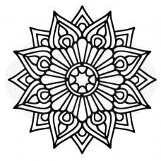 Woodware Stencil - Raindrop Mandala