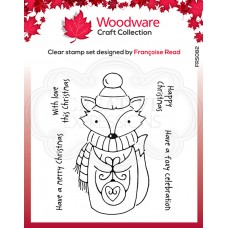 Woodware Clear Singles - Foxy Christmas