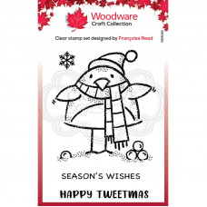 Woodware Clear Singles - Tweetmas Robin Stamp