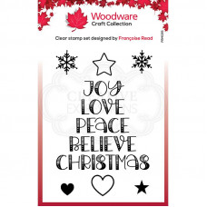 Woodware Clear Singles - Word Tree Stamp