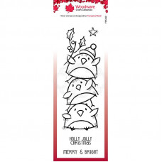 Woodware Clear Singles - Robin Stack Stamp