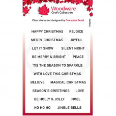 Woodware Clear Singles - Christmas Strips Stamp