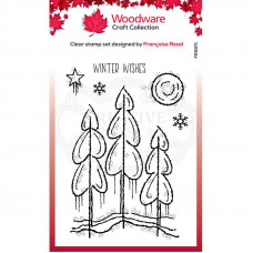 Woodware Clear Singles - Winter Trees Stamp