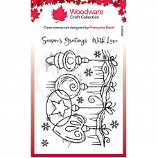 Woodware Clear Singles - Frosted Baubles Stamp
