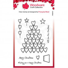Woodware Clear Singles - Heart Tree Stamp