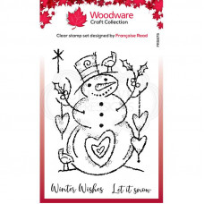 Woodware Clear Singles - Loving Snowman Stamp