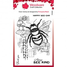 Woodware Clear Stamp - Bee Kind - DISPATCHING END OF MAY