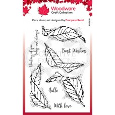 Woodware Clear Stamp - Fluttering Leaves