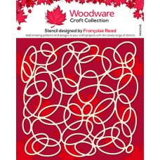 Woodware Stencil - Oval Mesh