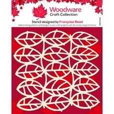 Woodware Stencil - Leaf Panel
