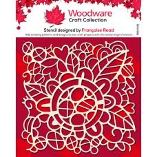 Woodware Stencil - Flower Doodle