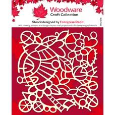 Woodware Stencil - Doodle Mesh