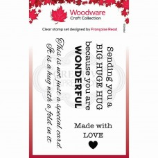 Woodware Clear Singles - Big Hugs Stamp