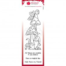 Woodware Clear Singles - Magic Mushrooms Stamp - DISPATCHING FROM 28th JANUARY