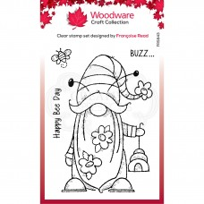 Woodware Clear Singles - Bee Gnome Stamp - DISPATCHING FROM THURSDAY 28th JANUARY