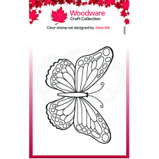 Woodware Clear Singles Mini Wings - Marsh Fritillary Stamp