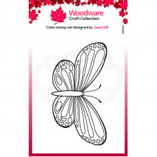 Woodware Clear Singles Mini Wings - Common Blue Stamp