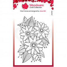 Woodware Clear Singles - Passion Flower Stamp