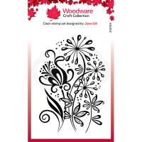 Woodware Clear Singles - Curly Petals Stamp