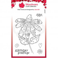 Woodware Clear Singles Fuzzy Flowers - Daisy Stamp