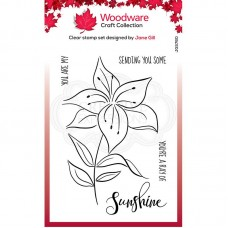 Woodware Clear Singles - Lily Sketch Stamps