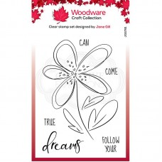 Woodware Clear Singles - Dahlia Sketch Stamps