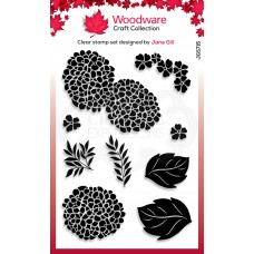 Woodware Clear Singles Stamp - Hydrangea