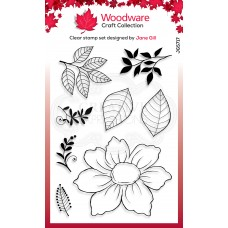 Woodware Clear Singles Stamp - Dog Rose