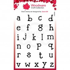 Woodware Clear Singles - Quirky Typewriter Alphabet Lowercase Stamp